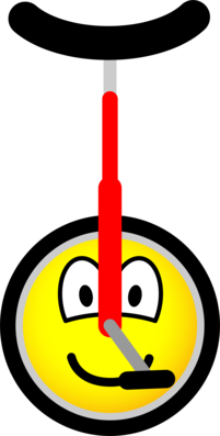 Unicycle emoticon
