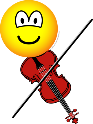 Violin playing emoticon