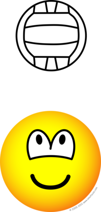 Volleyball playing emoticon