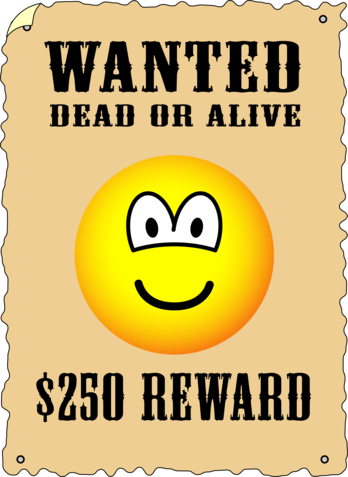 Wanted poster emoticon