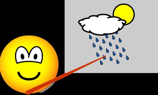 Weatherman emoticon