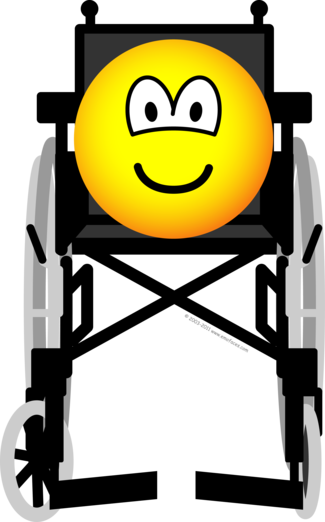 Wheelchair emoticon