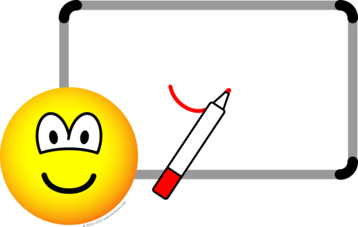 White board emoticon