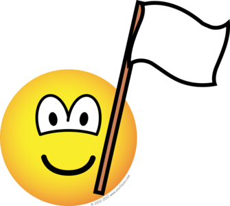 White flag emoticon