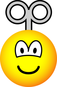 Wind up emoticon