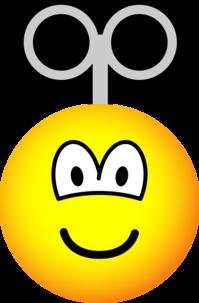 Wind up emoticon