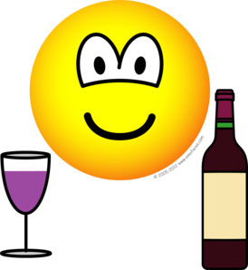 Wine drinking emoticon