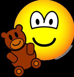 Teddy bear toy emoticon