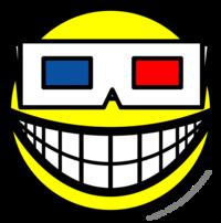 3D glasses smile