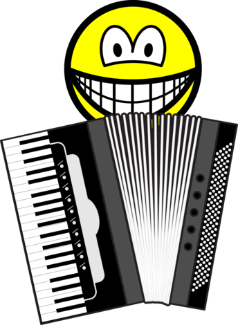 Accordion playing smile