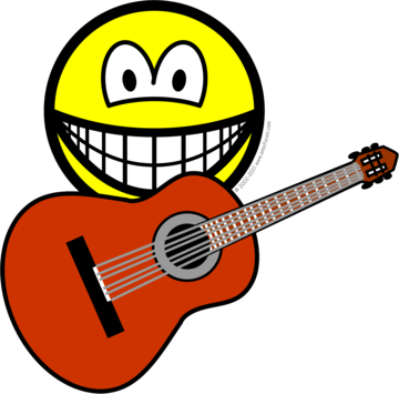 Acoustic guitar smile