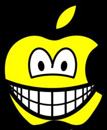 Apple logo smile