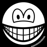 Black and white smile