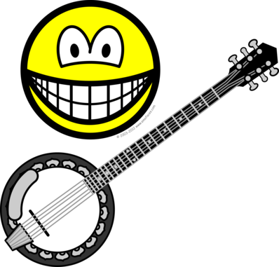 Banjo playing smile