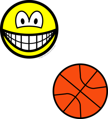 Basketball playing smile