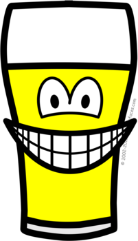 Beer glass smile
