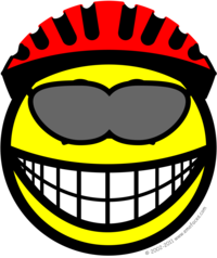 Biker smile