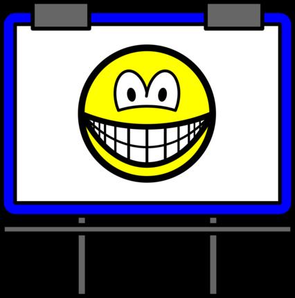 Billboard smile