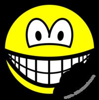 Bitten smile