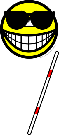 Blind smile