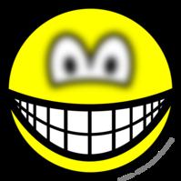 Blurry eyed smile