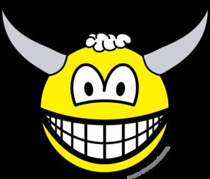 Bull smile