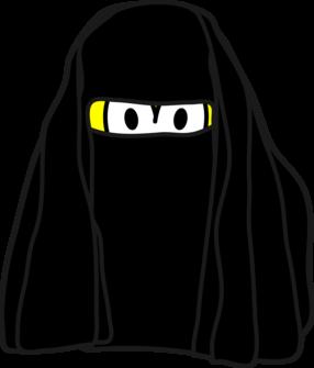 Burka smile