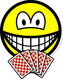 Card playing smile