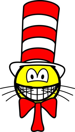 Cat in the hat smile
