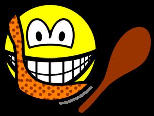 Caveman smile