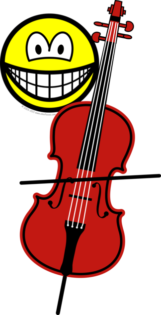 Cello playing smile