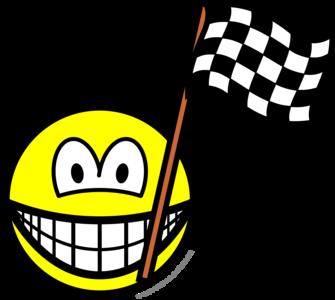 Checkered flag smile