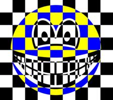 Chess board smile