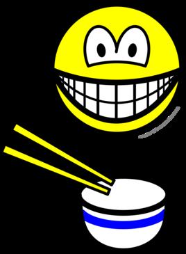 Chop sticks smile