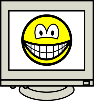 Computer screen smile