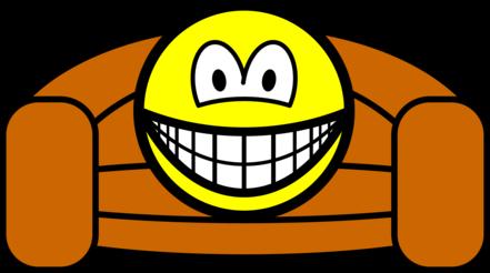 Couch potato smile