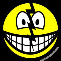 Cracked smile