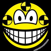 Crash test dummy smile
