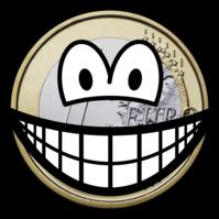 Euro coin smile