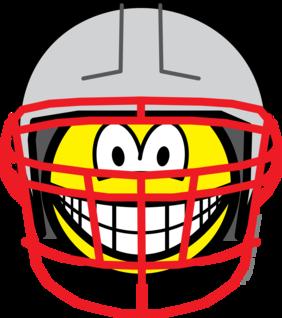 Football player smile
