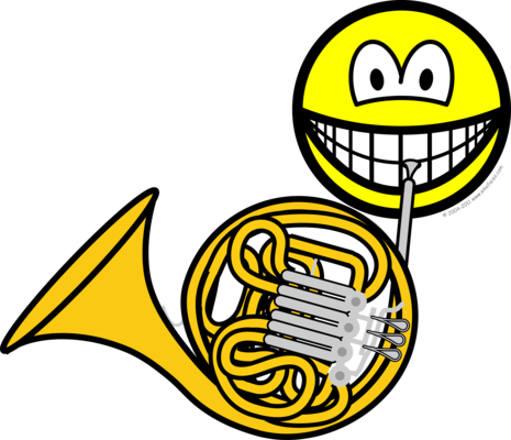 French horn smile