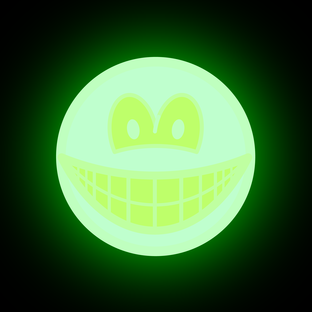 Glow in the dark smile