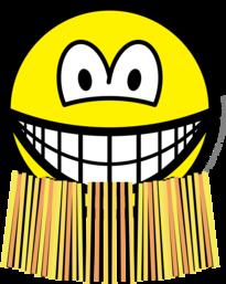 Grass skirt smile