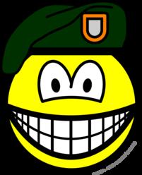 Green beret smile