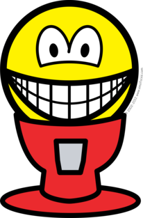 Gumball machine smile