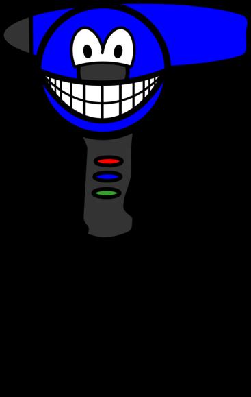 Hairdryer smile