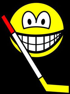 Ice hockey smile