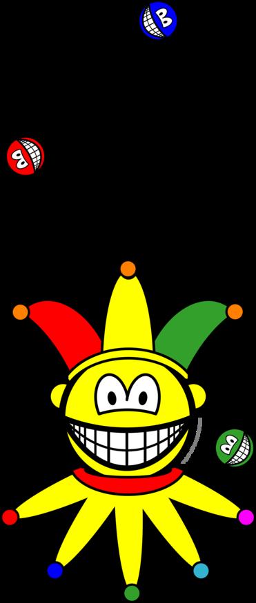 Juggling smile