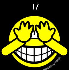 Peek-a-boo smile