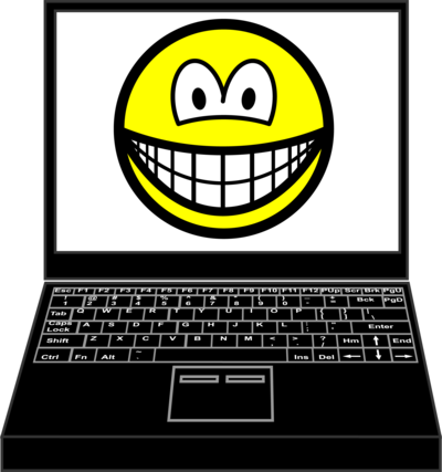 Laptop smile